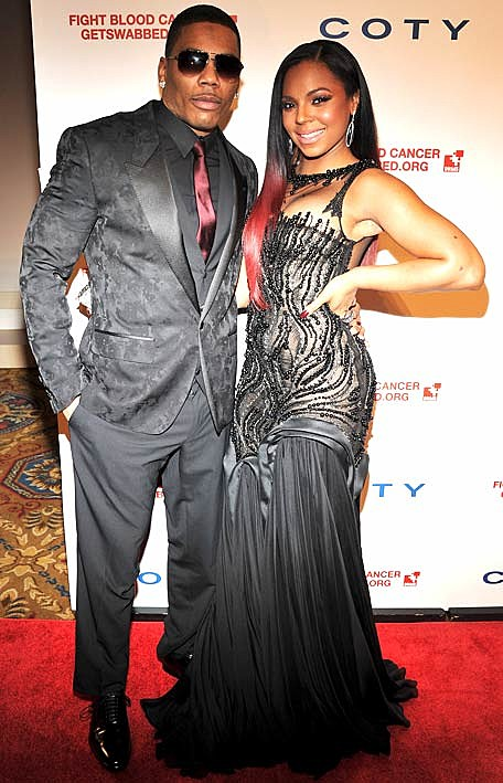 Ashanti and Nelly's Black & Burgundy Gala Look: Hit or ...