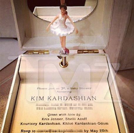 kim kardashian baby shower