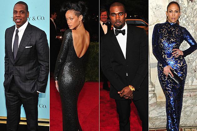 Jay Z Rihanna Kanye West Jennifer Lopez