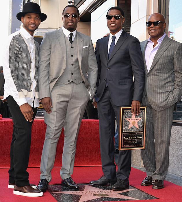 "Kenny ""Babyface"" Edmonds, Usher, Diddy, L.A. Reid"