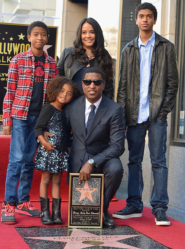 "Kenny ""Babyface"" Edmonds and Family"