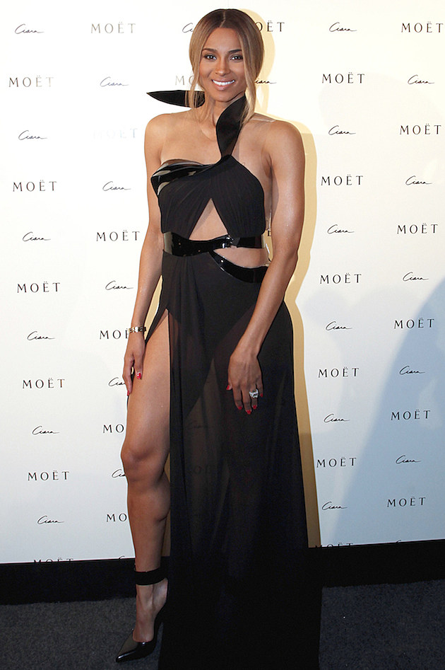 Ciara at Moet Rose Lounge Event