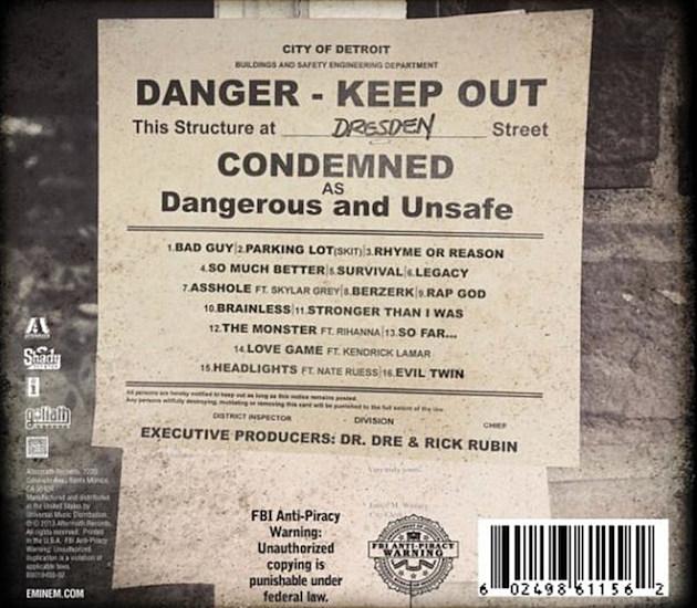 Marshall Mathers LP 2 Tracklisting