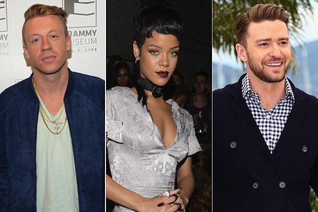 Macklemore Rihanna Justin Timberlake