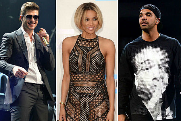 Robin Thicke, Ciara and Drake