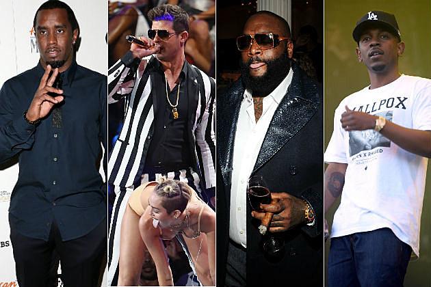Diddy Miley Cyrus Robin Thicke Rick Ross Kendrick Lamar