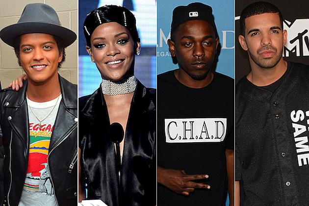 Bruno Mars Rihanna Kendrick Lamar Drake