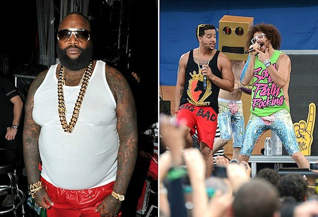 Rick Ross and LMFAO