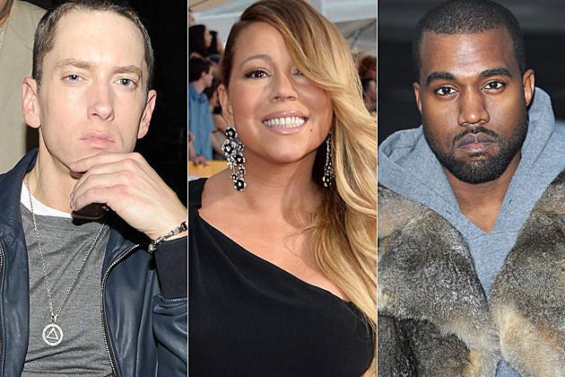 Eminem Mariah Carey Kanye West