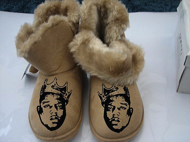 Drake Eminem And Tupac S Faces Featured On Furry Boots