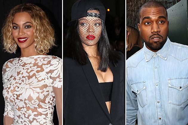 Beyonce Rihanna Kanye West