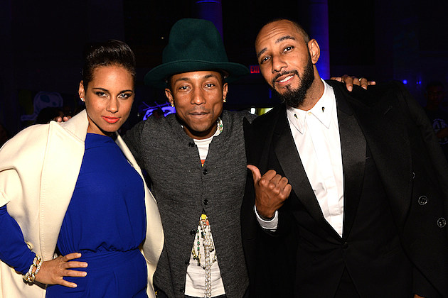 Alicia Keys, Pharrell and Swizz Beatz