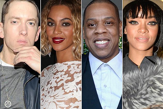 Eminem Beyonce Jay Z Rihanna