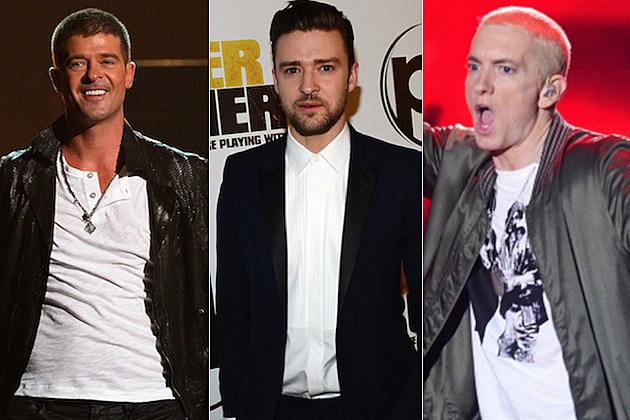 Robin Thicke Justin Timberlake Eminem