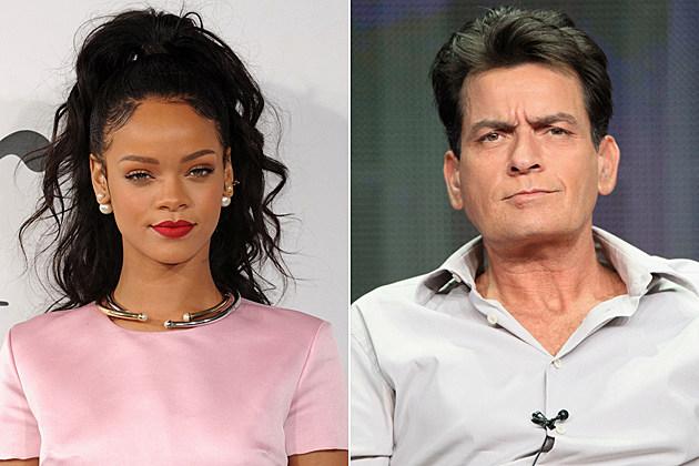 Rihanna Charlie Sheen