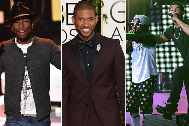 Pharrell Williams Usher Drake Lil Wayne