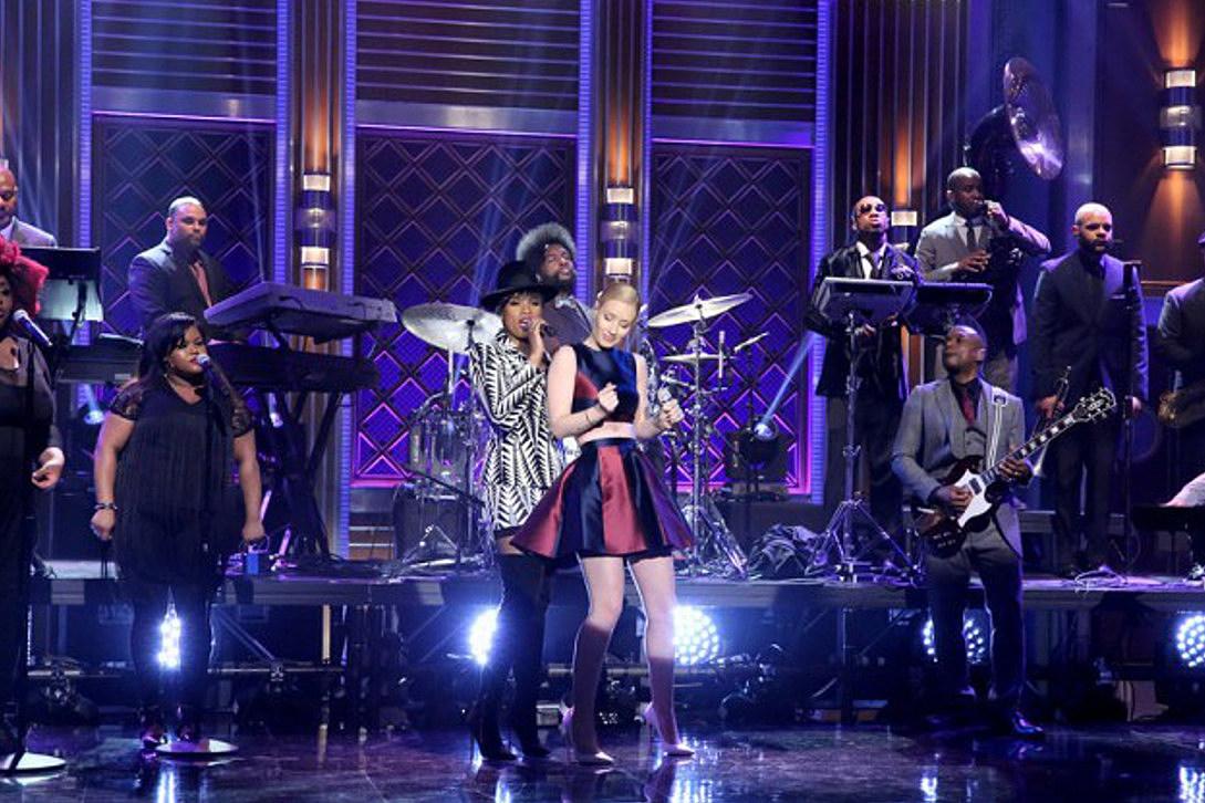 Iggy Azalea and Jennifer Hudson Perform 'Trouble' on 'Jimmy Fallon' [VIDEO]
