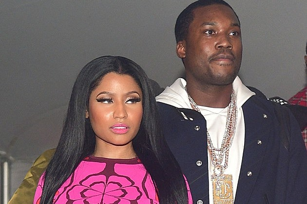 Meek mill and nicki minaj closeup