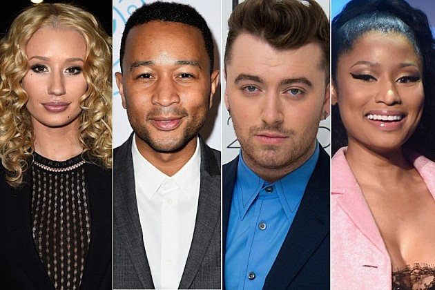 Iggy Azalea John Legend Sam Smith Nicki Minaj