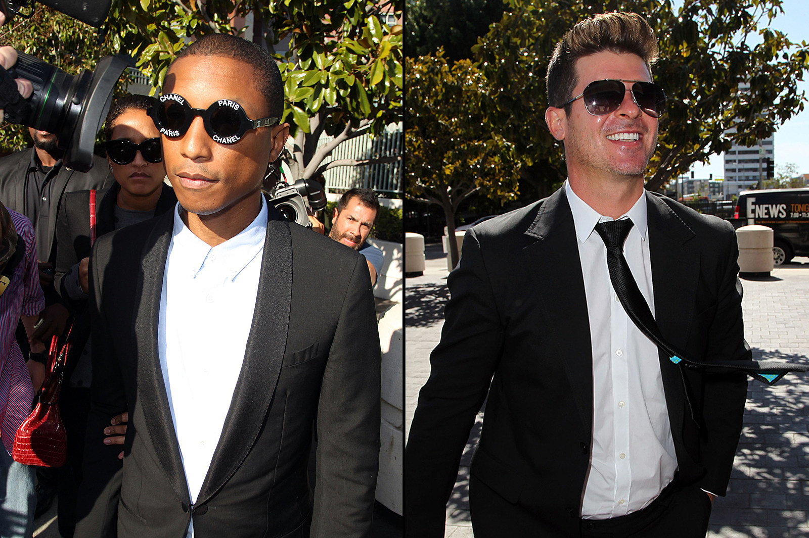 Pharrell Williams, Robin Thicke and T.I. Appeal 'Blurred Lines' Verdict news