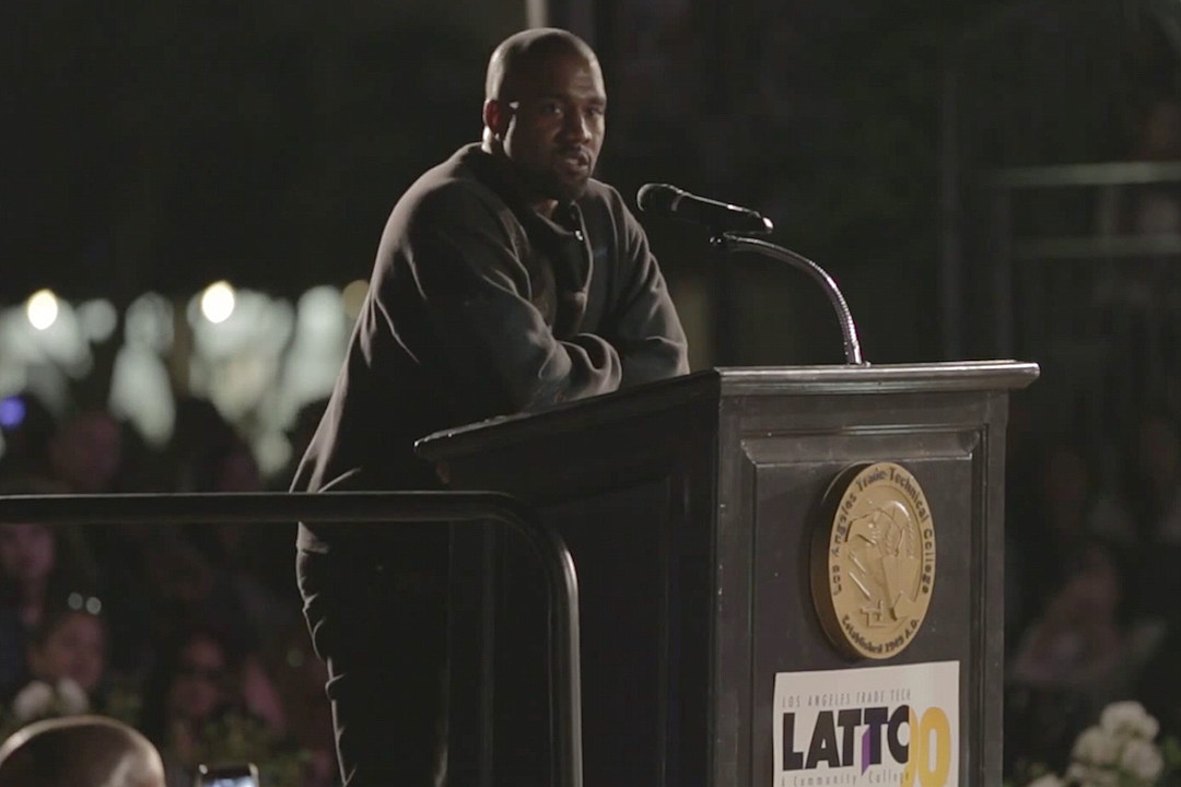 Kanye West Gives Inspiring Speech At L.A. Trade Technical College [VIDEO]