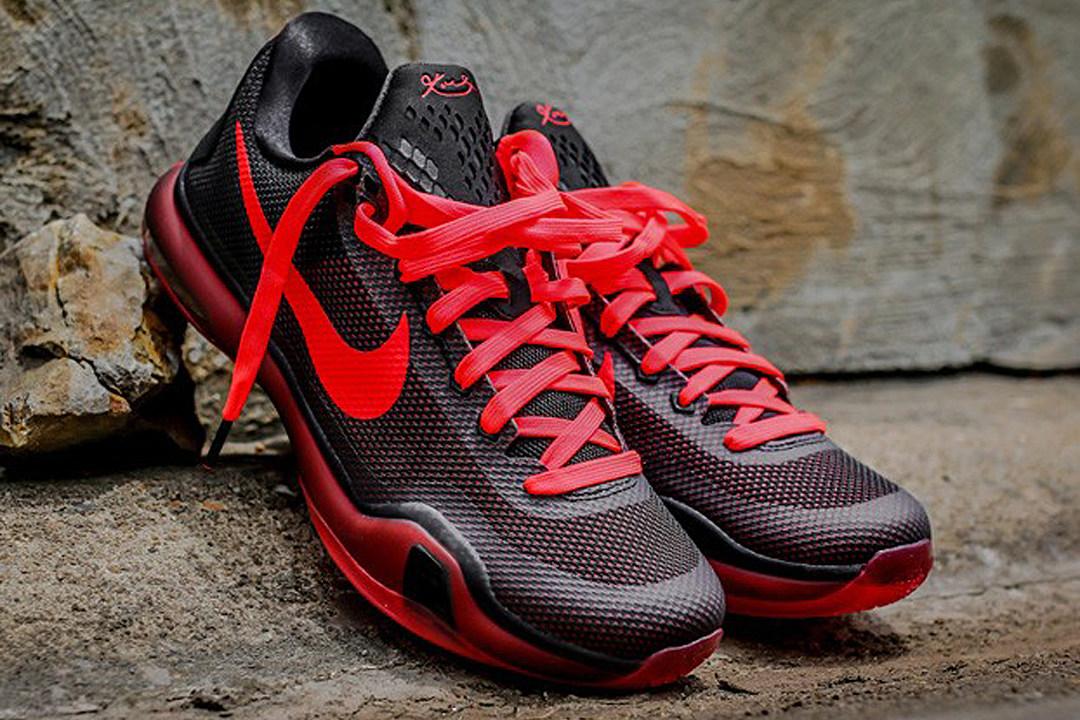 Nike Kobe 10 Black and Bright Crimson