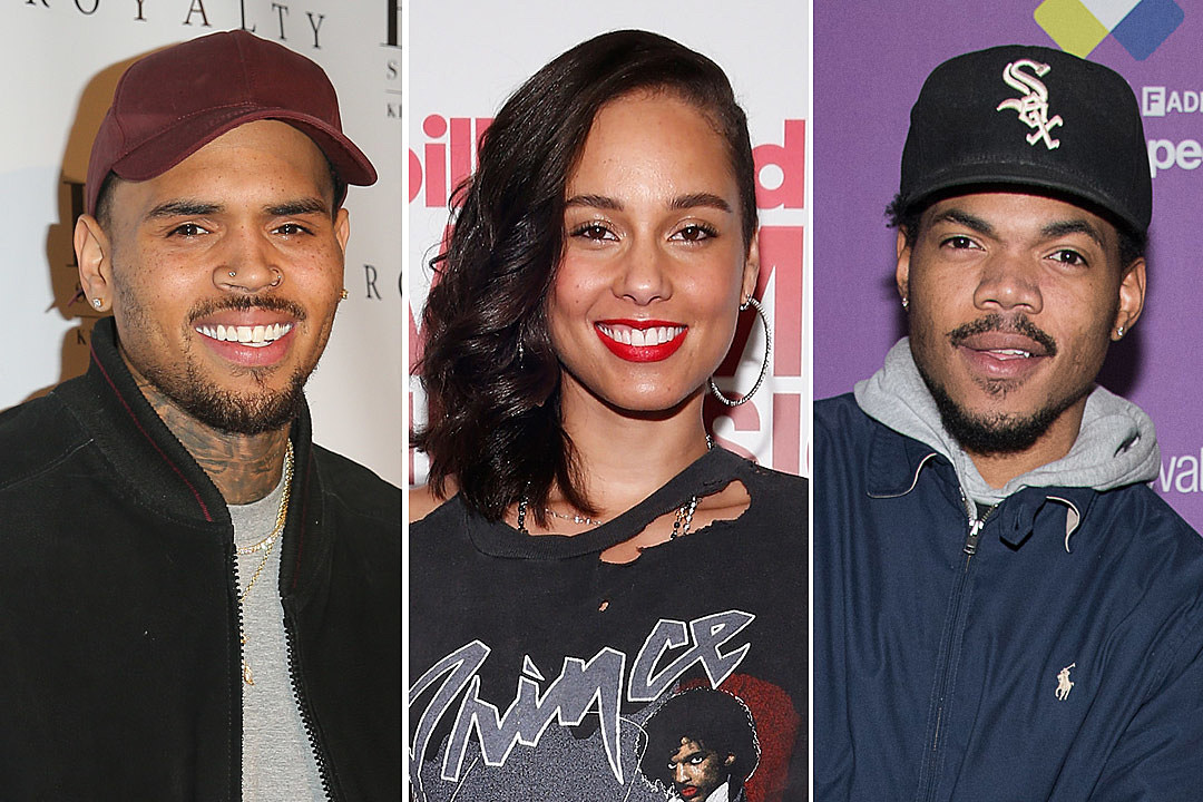 Chris Brown Alicia Keys Chance the Rapper