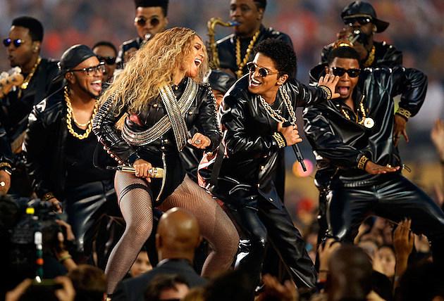 Beyonce and Bruno Mars