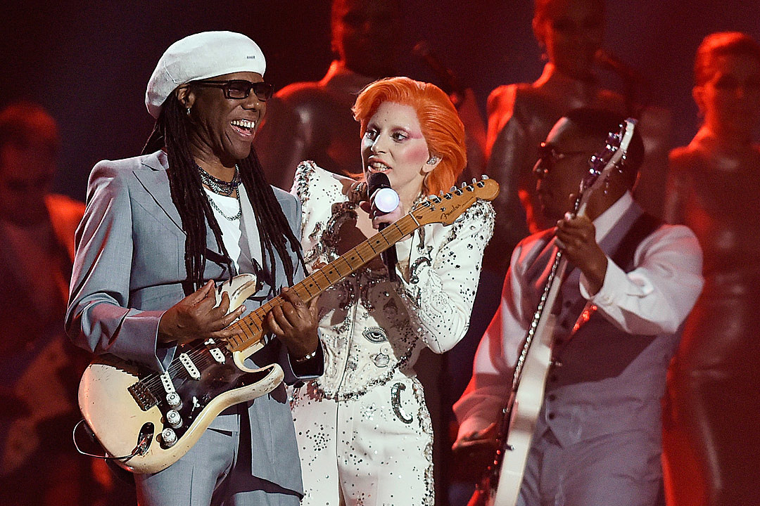 Lady Gaga, Nile Rodgers Pay Tribute to David Bowie at 2016 Grammys news