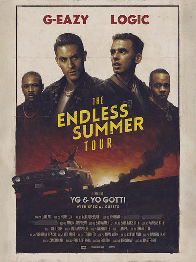 G Eazy, Logic, YG, & Yo Gotti Embarking on The Endless Summer Tour news