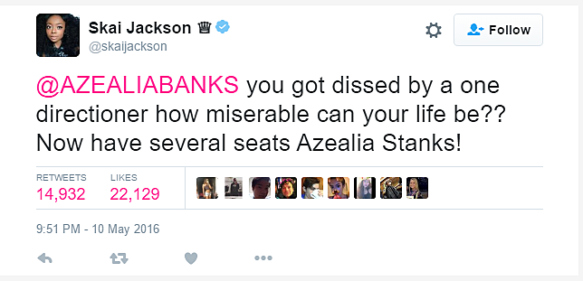 Azealia Banks Gets Ethered by 14 Year Old Skai Jackson: 'Go Fix Your Edges Before You Come At Me' news