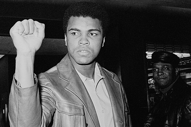 Muhammad Ali Showing His Fist
