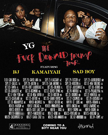 YG Announces 'F— Donald Trump' Tour Dates, Just in Time for Election Season news