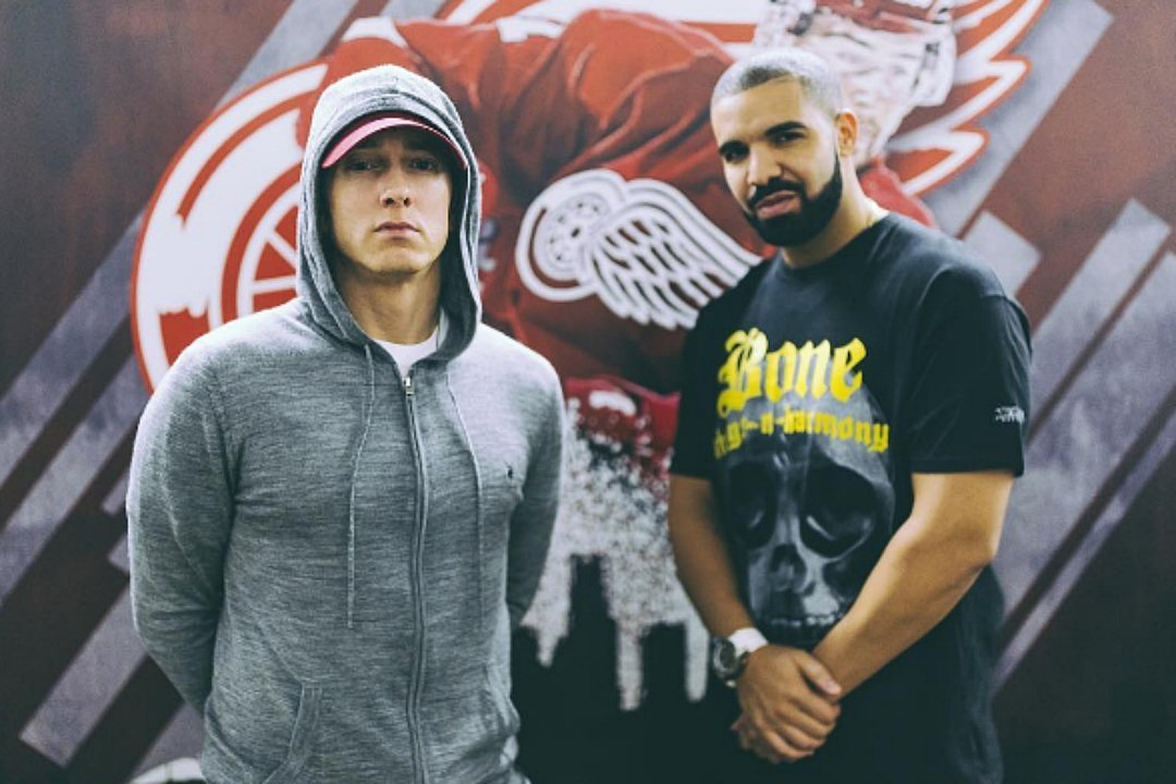 See Drake Bring Out 'Greatest Rapper' Eminem at Detroit Gig news