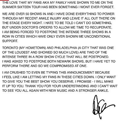 Drake Postpones 'Summer Sixteen' Tour Dates Due to Ankle Injury news