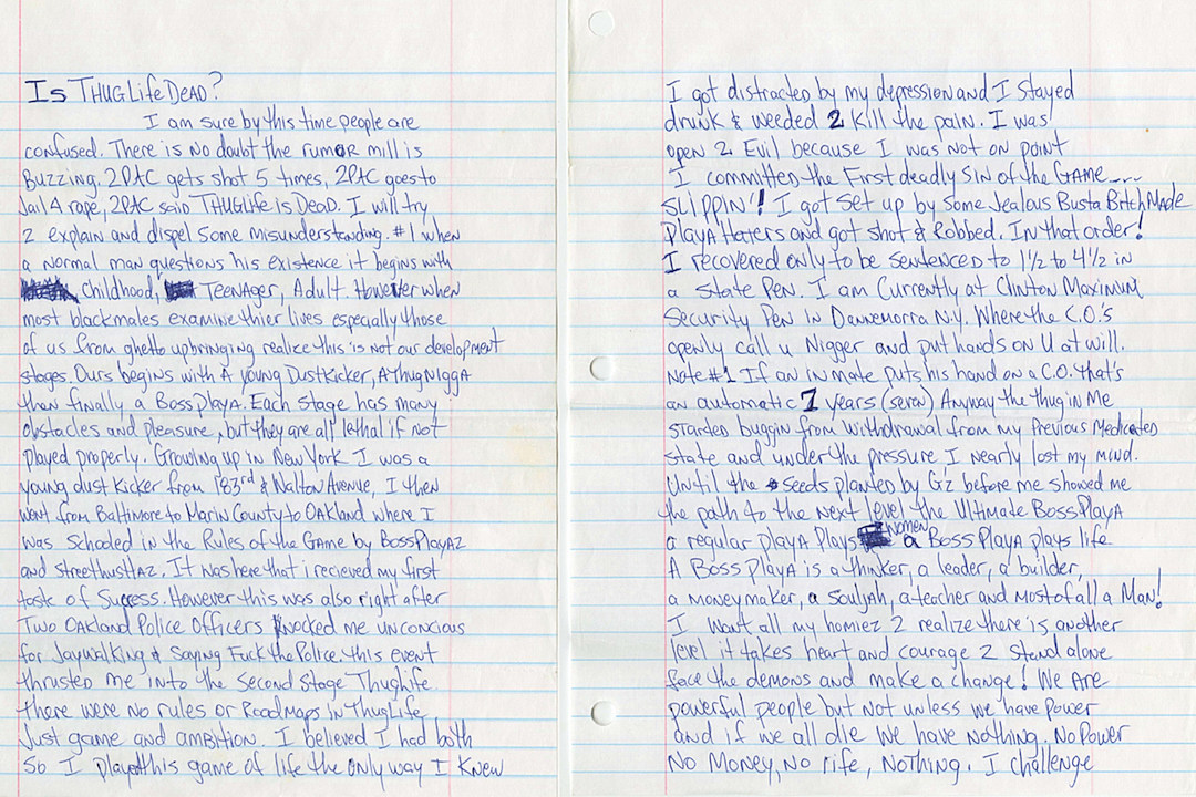 A Handwritten Love Letter From Tupac Is Up for Sale news