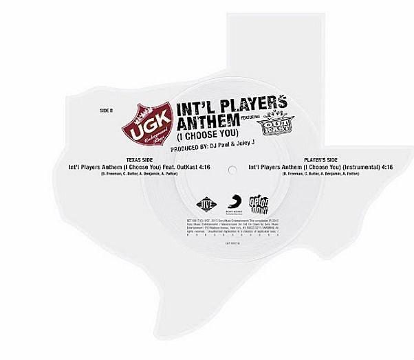 Ugk S Quot Int L Players Anthem Quot Reissued As Texas Shaped Vinyl