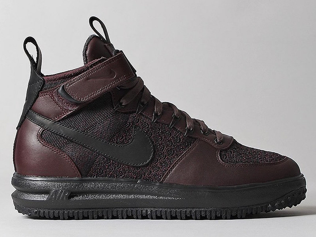 nike lunar force 1 flyknit workboot burgundy. Black Bedroom Furniture Sets. Home Design Ideas