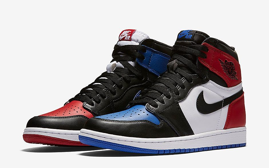 Why pick one when you can have all three? The Air Jordan 1 Top 3 answered that question by mixing your favorite Air Jordan 1 colorways into one fun sneaker that is an absolute head turner.