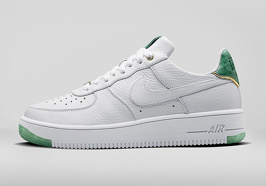 sneaker of the week nike air force 1 jade collection. Black Bedroom Furniture Sets. Home Design Ideas
