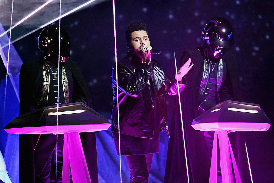 The Weeknd Daft Punk 2017 Grammy Awards