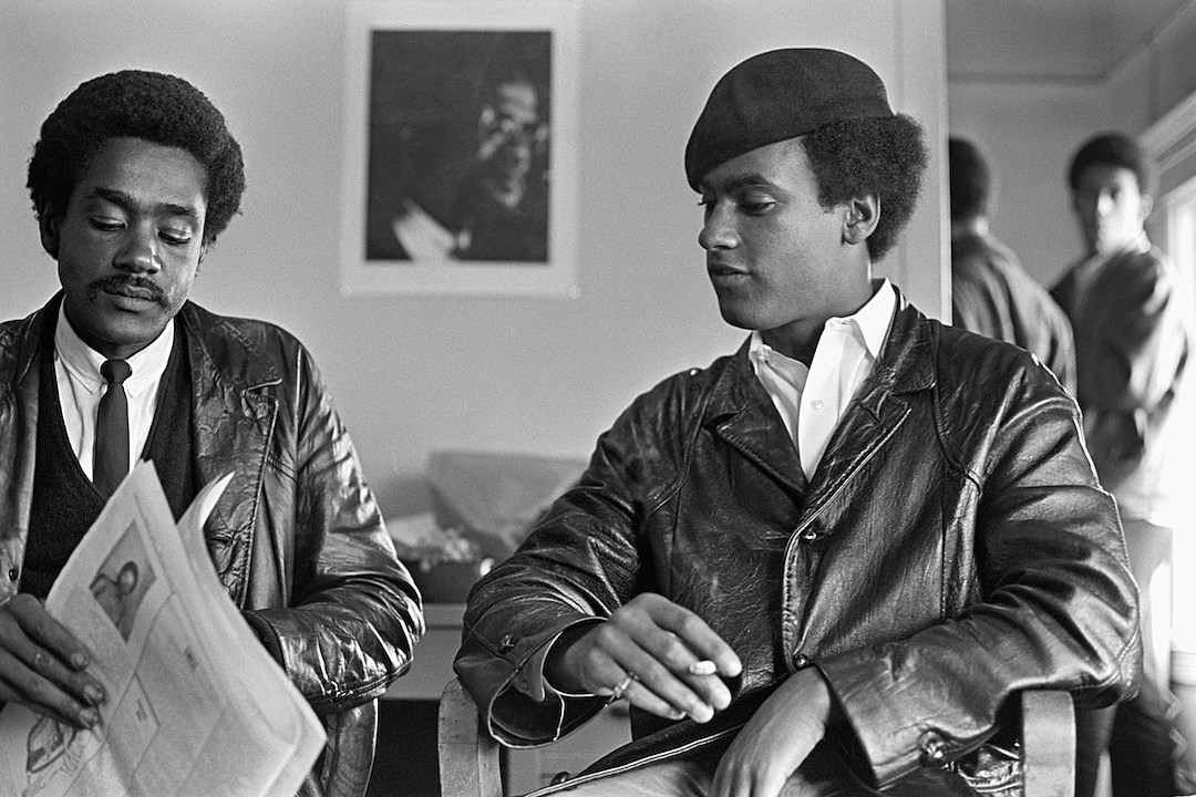 The Black Panthers Huey Newton and Bobby Seale