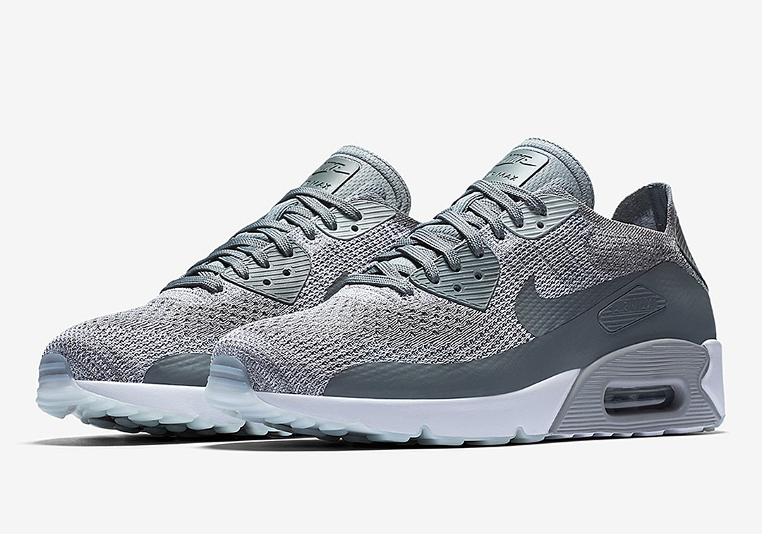 nike air max 90 ultra 2 0 flyknit cool grey. Black Bedroom Furniture Sets. Home Design Ideas