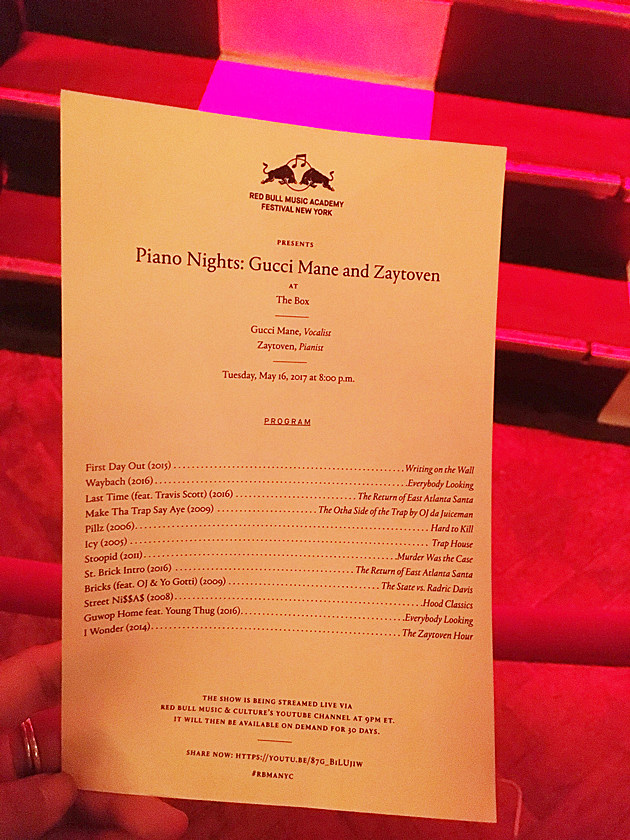Gucci Mane Zaytoven Piano Nights Setlist