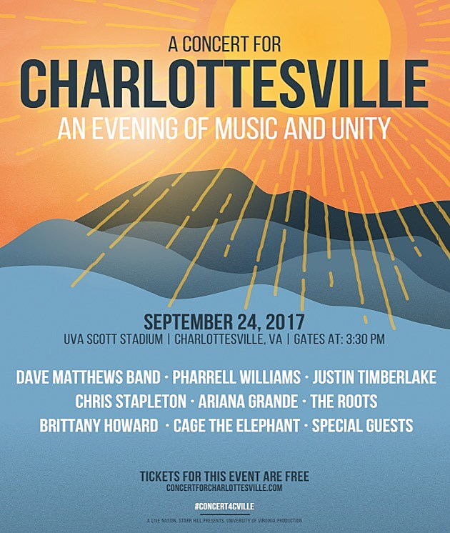 Dave Matthews Band to host free 'Concert for Charlottesville'
