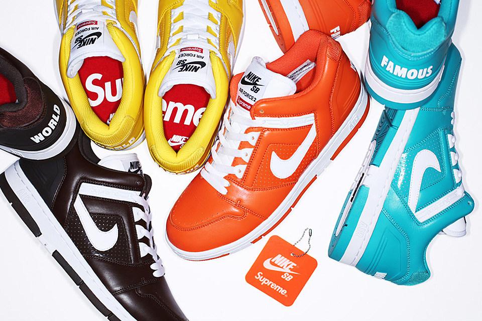 cheap for discount 9230c d3715 ... Supreme x Nike SB Air Force 2 good service f3e1c 028f0 supreme nike sb  gato footwear ...