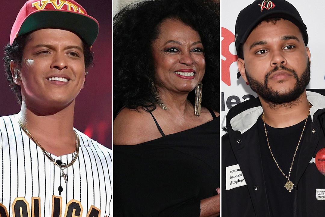 Bruno Mars Diana Ross The Weeknd AMAs