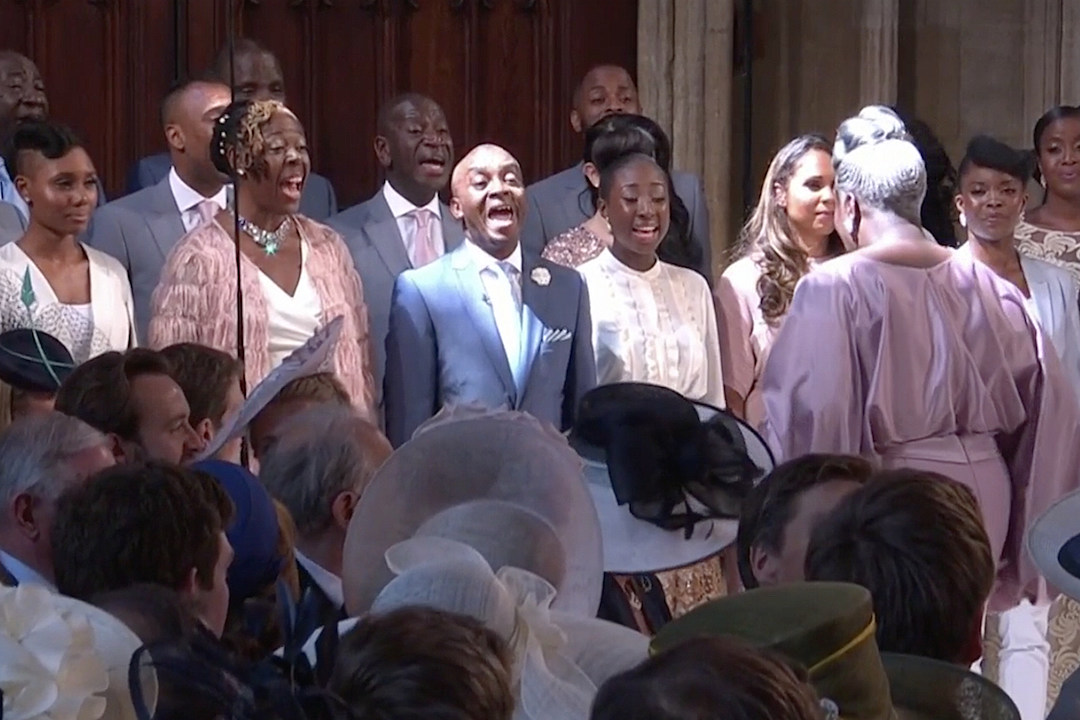 Gospel Choir At Royal Wedding.A Gospel Choir Performed A Beautiful Rendition Of Stand By